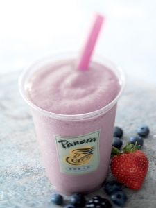 Panera Bread Smoothie, berries, strawberry