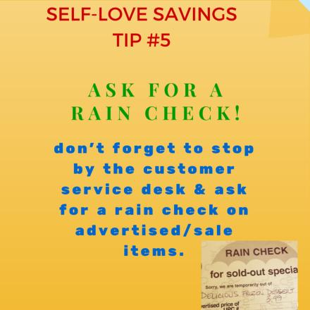 Rain Check tip